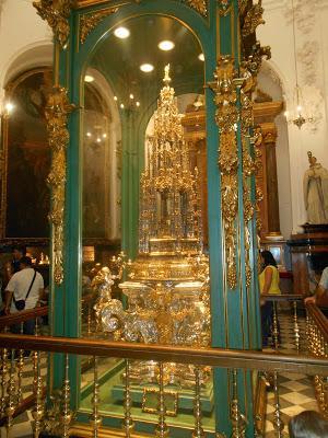 Custodia de Arfe en la Capilla de Santa Teresa en la Mezquita de Córdoba
