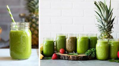 Los batidos verdes para el reflujo ácido