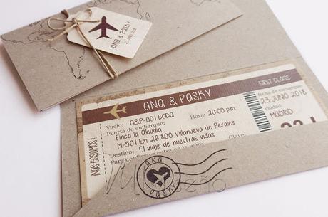 Invitación tarjeta de embarque
