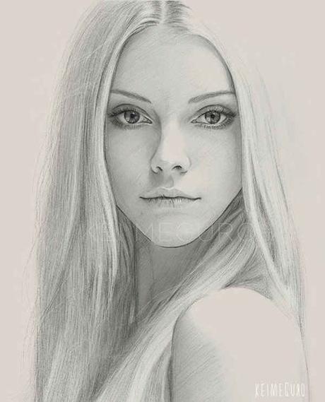 15 Increibles De Retratos De Mujeres A Lápiz Paperblog