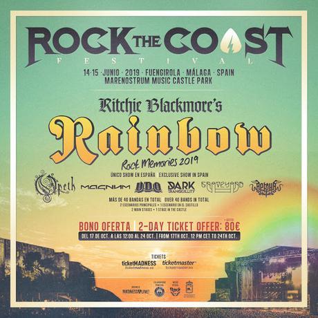 Rock the Coast Fuengirola 2019: Ritchie Blackmore's Rainbow, Opeth, Magnum, U.D.O., Dark Tranquillity, Graveyard...