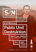 Concierto de Pablo Und Destruktion en Teatro Lara