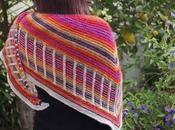 Nuevo chal, Metalouse Stephen West shawl,