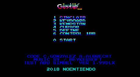 Descarga Gandalf Deluxe, una versión mejorada de un arcade para Speccy