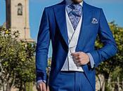 Chaqué novio azul royal pata gallo