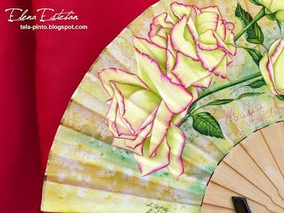 Rosas en madera de boj.