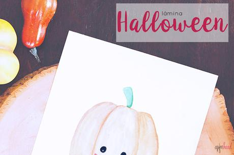 Halloween: Freebie Lámina calabaza