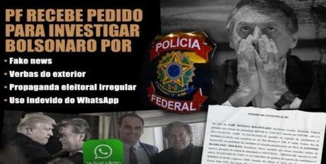 Policía Federal brasileña abre investigación a Bolsonaro por difusión de noticias falsas