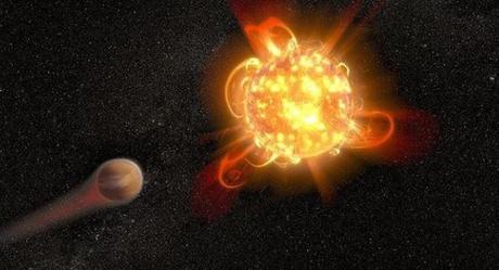 Llamaradas violentas de estrellas enanas que eliminan atmósferas planetarias