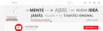 Canal educativo de Youtube en español