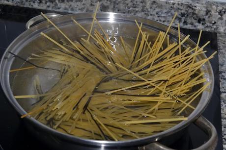 Espaguetis con salsa de boletus