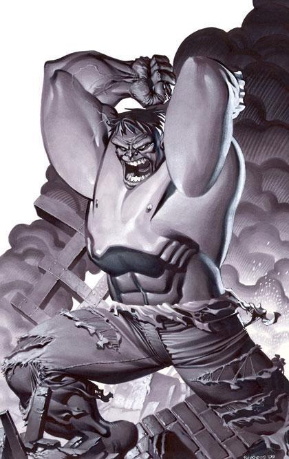 Increibles ilustraciones monocromáticas de superhéroes