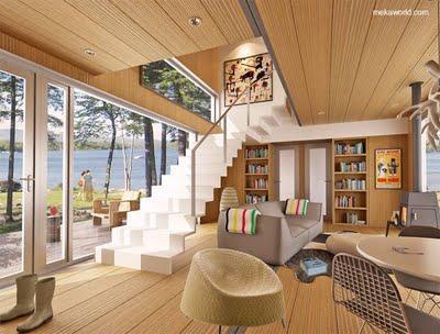 Casa prefabricada moderna modular con madera paperblog for Interior de la casa de madera moderna