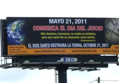 Vallas publicitarias anuncian el fin del mundo por todo el planeta