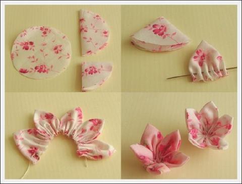 Flores de tela para decorar lo que quieras paperblog - Flores de telas hechas a mano ...