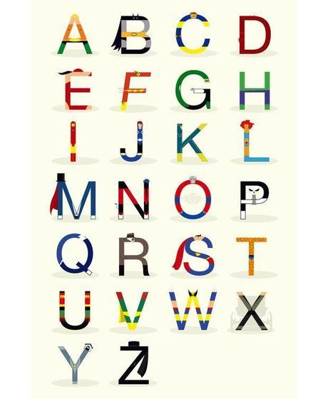 El abecedario de los superhéroes