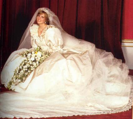 Vestido de novia de la princesa Diana de Gales