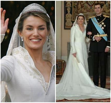 Vestido de novia de Letizia, princesa de Asturias, España