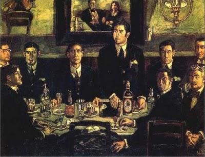 «La tertulia del Café de Pombo» desvela una pintura religiosa oculta bajo el lienzo
