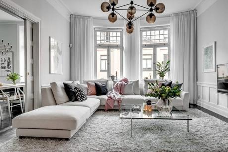 Lámpara de techo para la zona del sofá