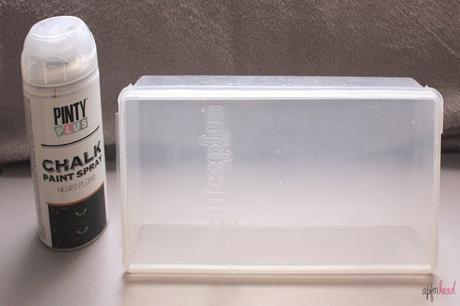 DIY: Reutilizando una caja de plástico