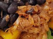 Burritos caribeños judías negras fruta jack mango