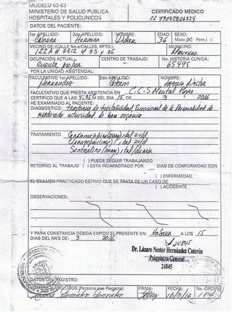 El rigor del infierno: presos en Cuba.
