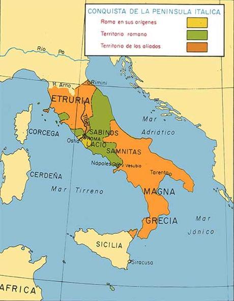 Mapa de la Republica Romana