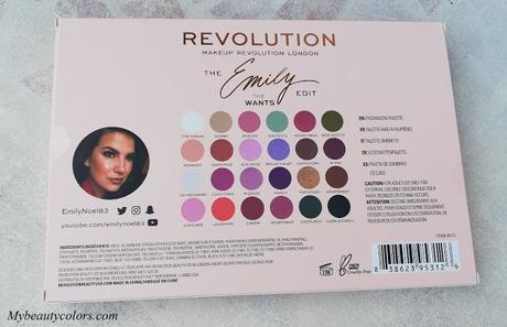 Makeup revolution, emily edit