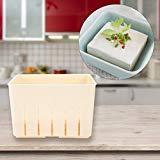 Footprintse Tofu de plástico de calidad alimentaria Caja de tofu Molde Hogar Tofu Maker Herramienta de cocina DIY Fabricante de prensa Hecho en casa Vida sana: blanco