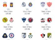 Fechas horarios para jornada futbol mexicano