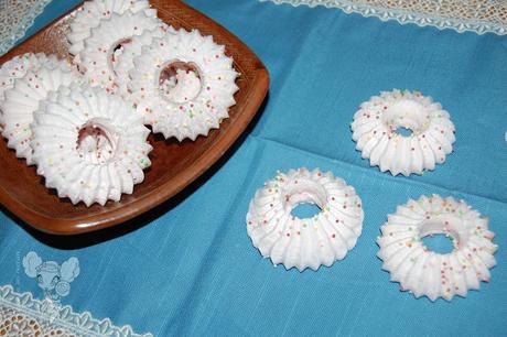 Merengues de algodón de azúcar