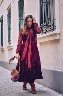 Burgundy velvet