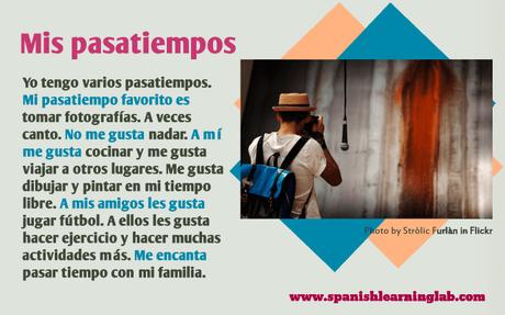 Mis Pasatiempos Favoritos En Español