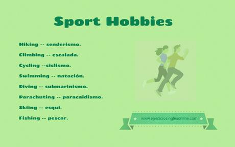 Vocabulario Sobre Aficiones Deportivas En Inglés