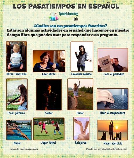 Las Actividades De Tiempo Libre En Español Los Pasatiempos
