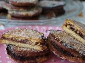 Galletas rellenas flan chocolate