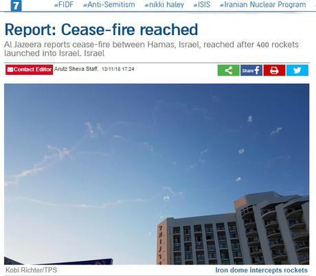 Grave error. Israel acepta el alto el fuego.
