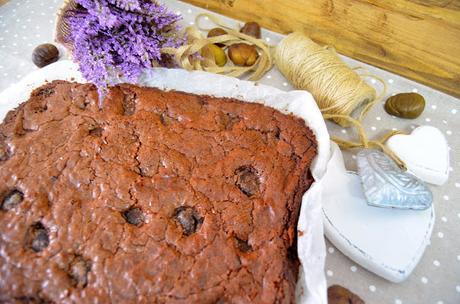 brownie, brownie de chocolate, brownie de chocolate con castañas asadas, brownie receta, brownie chocolate, brownie receta original, brownie casero, brownie fácil, las delicias de mayte,