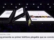 Samsung presenta primer teléfono plegable convierte tableta