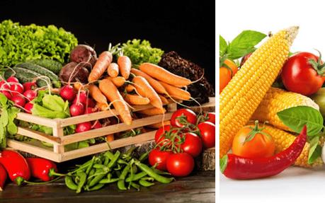 dieta con vegetales y verduras