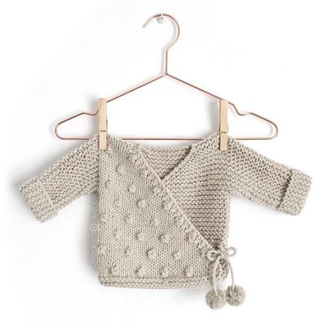Cómo hacer una Chaqueta Kimono de punto de bebé - Patrón y Tutorial -