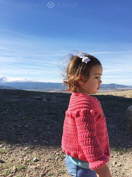 Cómo hacer una Chaqueta de Crochet Burbujitas para niña - Patrón y Tutorial -
