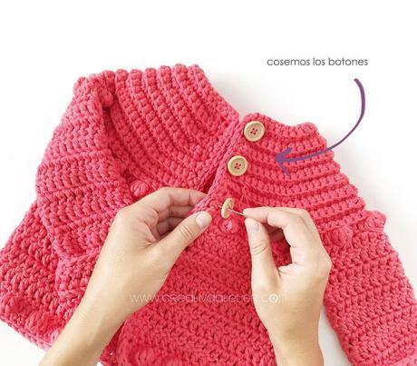 Chaqueta de Crochet Burbujas para niña – Patrón y Tutorial –