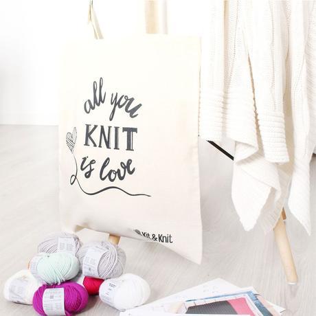cajita kit & knit tote bag