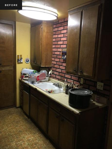 cocina muebles marrones