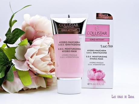 Collistar Idro-Attiva Hidro-Mascarilla Hidratante S.O.S.danbel skincare beauty belleza facial hidratación