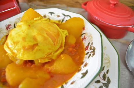 las delicias de mayte, patatas con chorizo a la riojana, guiso de la abuela, guisos, guiso de patatas con chorizo, guiso de patatas con chorizo y huevo, estofado de patatas con chorizo, receta guiso de patatas con chorizo,