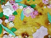 Tarta Floral Crema Quemada
