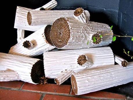 Hacer una chimenea de cartón para navidad
